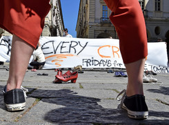 Fridays for Future movement for climate protection in Turin (ANSA)